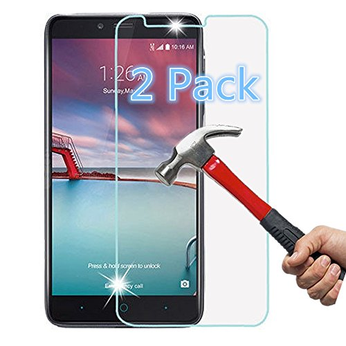 Great Deal! VL Tempered Glass -[2 PACK] ZTE Zmax Pro, ZTE Carry Z981 Screen Protector, 99.9% Ultra C...