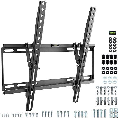 RICOO N1944, Flache TV Wandhalterung Fix & Slim, Universal 32-65 Zoll Curved-Bildschirm LCD-Flachbild Fernseher-Halterung, max. 75Kg & VESA 400x400