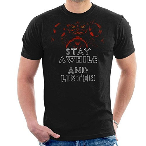 Stay A While and Listen Diablo Men's T-Shirt