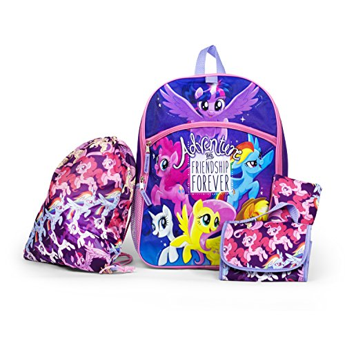 My Little Pony Backpack 5 Pc. Set for Girls, 16 in. School Bags Essentials Set