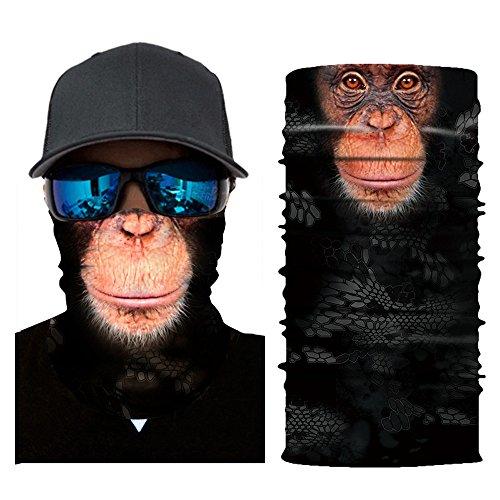 URIBAKY Bandana Bedruckte Multifunktionstuch Damen Herren Gesichtsmaske Atmungsaktiv Schlauchtuch Halstuch Schutzmasken,Schlauchschal Staubschutz Mund-Tuch Motorrad Fahrrad Joggen Schal