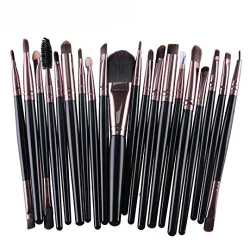 yonlanclot 20PCS Make-up Pinsel Set Tools Make-up Toiletry Kit Wolle Make Up Pinsel Set
