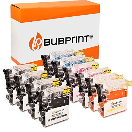 10 Bubprint Druckerpatronen kompatibel für Brother LC-1100 LC-980 für DCP-145C DCP-195C DCP-165C MFC-250C MFC-490CW MFC-5490CN MFC-5890CN MFC-6490CW
