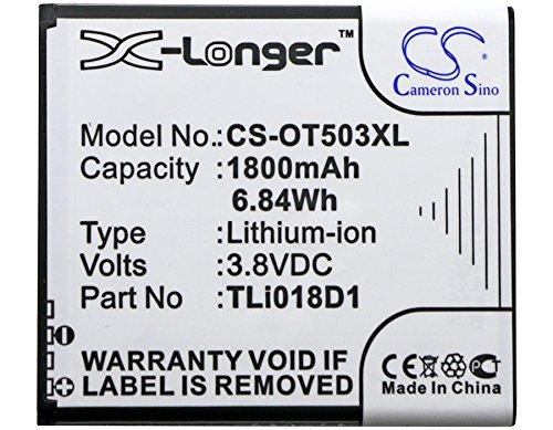 CS-OT503XL Akku 1800mAh Kompatibel mit [ALCATEL] One Touch Pop 3 (5), One Touch Pop 3 (5) 4G, One Touch Pop 3 5.0, One Touch Pop 3 5