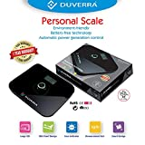DUVERRA High Precision Digital Body Weighing Scale with Battery Free Technology and Tempered