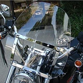 Motorcycle Clear Windscreen Windshield for Harley Davidson Sportster Dyna Glide Softail Honda Kawasaki Suzuki Yamaha Cruiser Savage Intruder Volusia Boulevard Vulcan Vn