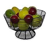 Shopping Club Iron;Metal Fruit Vegetable, Egg, Bread Storage Bowl (Black)