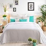 Sancarlos Luan Tagesdecke, Weiß, Bett 135 cm