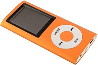 Mp3 Player, Portable 8GB MP4 Player 8 Colors FM Video 4 TH MP3 Player Music Player 1.8' Screen E-Book,Orange