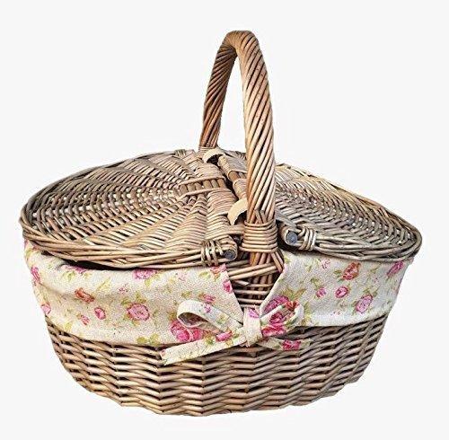 Antique Wash Terminer osier ovale Panier pique-nique