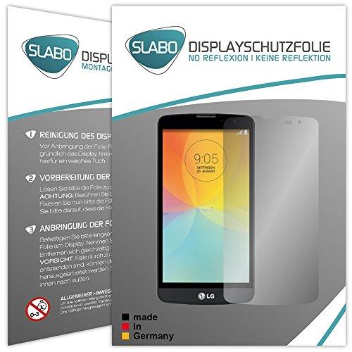 Slabo 2 x Bildschirmschutzfolie LG L Bello Bildschirmschutz Schutzfolie Folie No Reflexion Keine Reflektion MATT - Entspiegelnd Made IN Germany