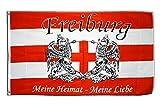 Flaggenfritze Fahne/Flagge Freiburg Meine Heimat - Meine Liebe + gratis Sticker