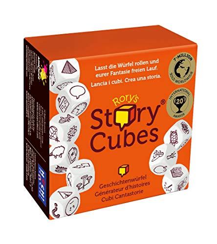 Asmodee- Rory's Story Cubes Original Gioco da Tavolo, Colore RSC (Arancione), ASMRSC01ML2