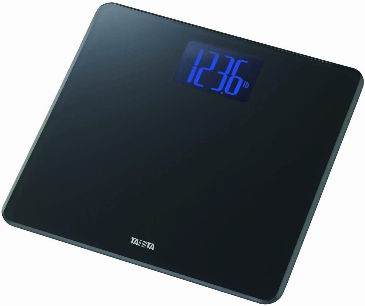 Tanita HD-366 - Báscula digital extragrande de cristal, color negro