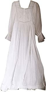 Women Vintage Sweet Princess Style Nightdress Long Sleeve Pajamas with floral Lace Embroidered Nightgown Sleepwear Lounge ...