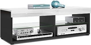 Mesa Baja para TV Pure Cuerpo en Negro Mate/Paneles y Parte Superior en Blanco de Alto Brillo | Gran selección de Colores