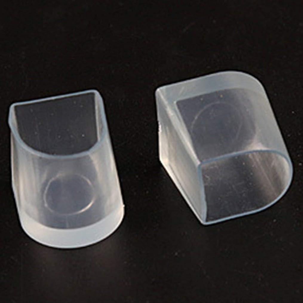 シットコム最終分析的1ペアハイヒール保護カバーラテンスティレットダンスカバーヒールストッパー滑り止め耐摩耗性 - 透明M