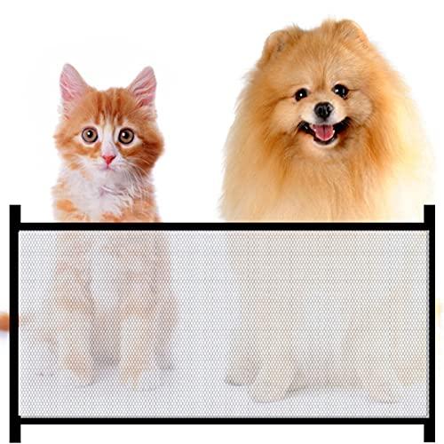 Hundebarrieren Parkarma 72 * 110cm Tragbar Hunde Türschutzgitter Magic Gate für Hunde Faltbar Hundeschutzgitter für Haustier Hunde Katzen,Hunde Türschutzgitter Hundebarrieren
