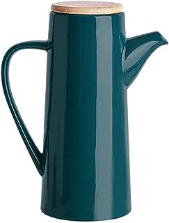 Oil Dispenser Ceramic Oil Bottle Sauce Cruet Liquid Ingredients Dispenser Bottle Dust Sealing Ceramic 500Ml Storage Bottle...