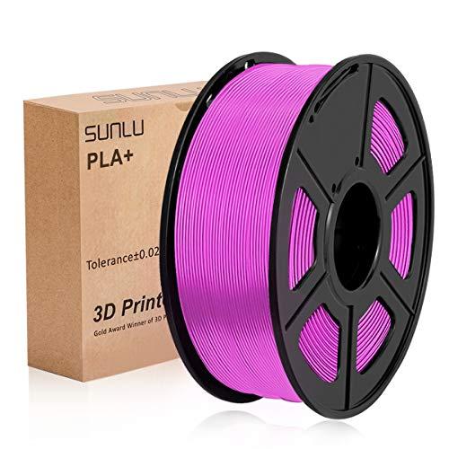 SUNLU PLA Plus Fucsia, filamento PLA Plus 1,75 mm, Precisione dimensionale con odore basso +/- 0,02 mm, Filamento per stampa 3D, bobina 2,2 LBS (1 KG) per stampanti 3D e penne 3D, Fucsia