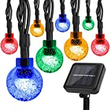 Solar String Lights,Correare Christmas 100 LED 39FT 8 Modes Multi-Colored Waterproof Solar Powered Globe Fairy String Lights for Patio Party Home Yard Wedding Party Christmas Holiday Decoration