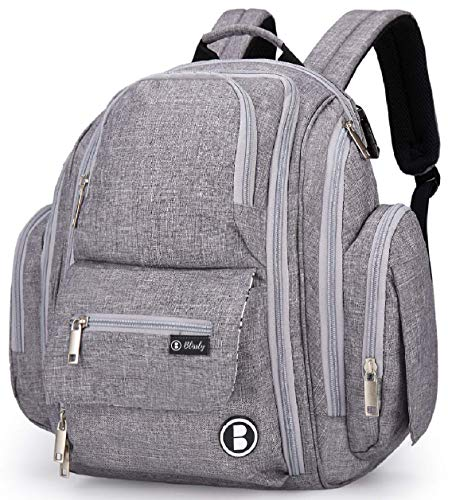 Diaper Bag Backpack by Blissly for Baby Girls, Boys, Twins,...