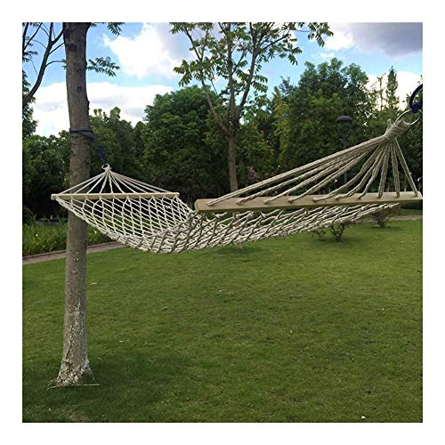 Hamaca Hamaca de Lona portátil oscilación del jardín al Aire Libre Campi Acampar al Aire Libre Hamaca de algodón Columpio de Cuerda Trenzada Malla Silla del Ocio hamacas Colgantes (Size : 200x80cm)