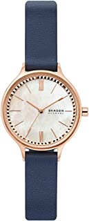 Skagen Anita Women's Mother Of Pearl Dial Leather Analog Watch - SKW2864