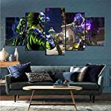 ZKSB 5 Canvas Paintings Video Game Borderlands 3 Art Collection Art Painting Children's Room Bathroom Decoration 5 Pictures 100X50Cm Frameless Painting