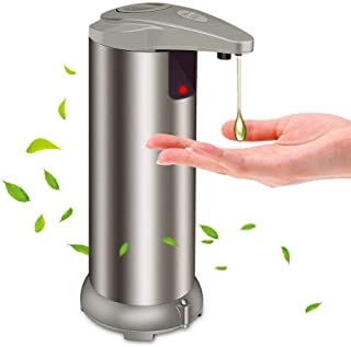 Best Automatic Soap Dispenser - Touchless Soap Dispenser with Waterproof Base, Infrared Motion Sensor Stainless Steel Dish Liquid Free Auto Hand Soap Dispenser for Bathroom or Kitchen, 2020-New Version Review
