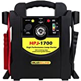 Solar Eclipse SE 1,700 Peak Jump Starter with Air Compressor (425 Cranking Amps, Portable Battery Booster)