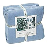 Full Elaine Karen Luxury Micro Plush Fleece Soft Bed Blanket - Breathable Warm and Cozy Lightweight Bed Cover, Perfect Bedspread, Coverlet, Throw for Couch, Sofa – Light Blue