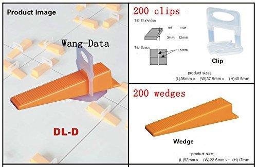 Wang-Data 400Pcs Tile Flat Leveling System