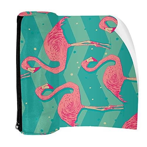 Estuche para lápices con diseño de pájaros de flamenco, bolsa con cremallera para papelería, viajes, escuela, estudiante suministros