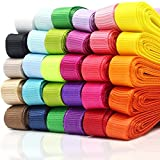 60 Yards Fabric Grosgrain Ribbons for Crafts, 3/8 Inches 30 Colors, Boutique Hair Ribbons, for Gifts Wrapping, DIY Bow Hair Accessories, Graduate Party