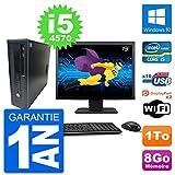 HP PC EliteDesk 800 G1 Ecran 19' Core i5-4570 RAM 8Go Disque 1To Windows 10 WiFi (Reconditionné)