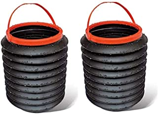 WeTest 2 Stück Mini Becherhalter Mülleimer – Kleiner Mülleimer Auto Mülleimer für Auto Büro Zuhause schwarz (LJ CJ 110202)