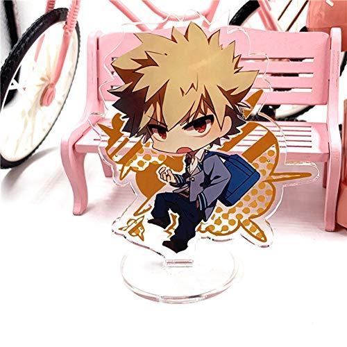 Yuxareen Anime My Hero Akademie Izuku Shoto Katsuki Acryl Stehende Figur Modell Stand Action Figure Puppe Stehtisch Dekor Beste Spielzeug für Anime Fans( H12)