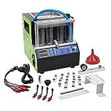 MR CARTOOL Máquina de Limpieza de Inyectores Combustible Ultrasónico, 220 V Automotriz 4 Cilindros Probador del Limpiador del Sistema de Inyección