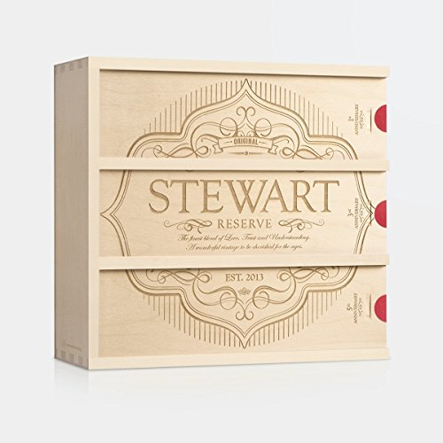 Label of Love Anniversary Wine Box by WineforaWedding