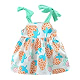 Julhold - Vestido de algodón sin mangas para niños y niñas (0-3 años) Rosa rosa 24 meses