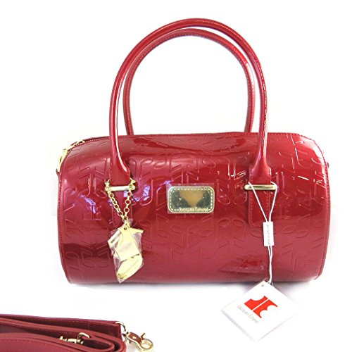 Borsa in pelle 'Jacques Esterel'polish note musicali rosse.