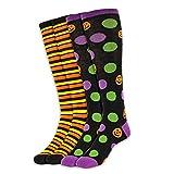 Halloween-Themed Socks, Holiday Knee-Highs (PUMPKIN/STRIPE, 2)