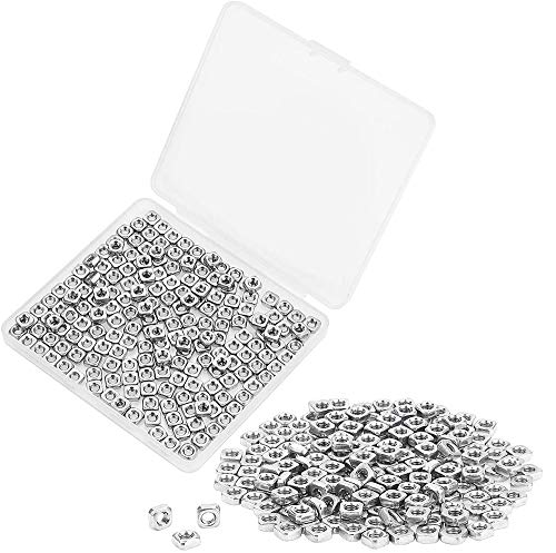Powlankou 200 Pieces 304 Stainless Steel M3 Square Nuts