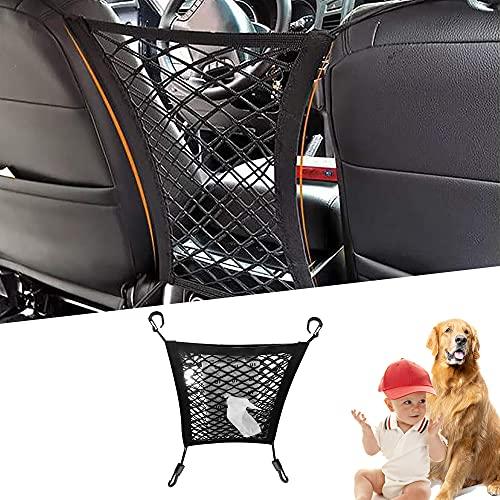 Universal Elastic Mesh Net Trunk Bag, Car Storage Bag Cargo Tissue Purse Holder Between Seats, Driver Storage Netting Pouch, Barrier of Backseat Pet Kids (1pcs)