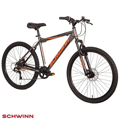 "Schwinn Surge 26"" Mountain Bike - Graphite, Orange & Black, 17' Aluminium frame with Disc Brakes"