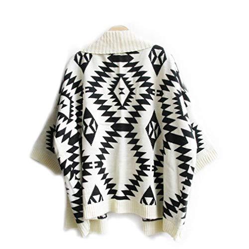Damska kurtka z dzianiny, luźny kardigan, wiosna, jesień, geometryczny klasyczny wzór, rękaw nietoperza, duże rozmiary, płaszcz dzianinowy dla kobiet