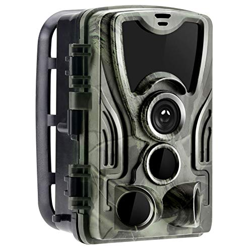 FYYTRL Cámara de rastreo, cámara de exploración de Caza Impermeable de 16MP 1080P, con 3 sensores Infrarrojos, con Rango de detección de 120 ° Visión Nocturna activada por Movimiento 2'TFT