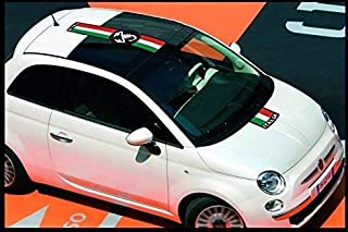 Fiat 500 Italia decal Abarth roof decal windscreen set (red Ð white Ð green)