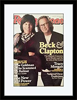 Framed Eric Clapton Jeff Beck Autograph with Ceritficate of Authenticity
